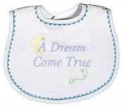 """A Dream Come True"" Boy Bib"
