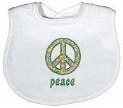 """""""Peace"""" Appliqued Unisex Bib"""